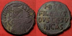 Ancient Coins - THEOPHILUS AE follis. Constantinople, 830-842 AD. Legend in four lines. Scarce.