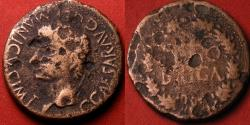 Ancient Coins - Gaius CALIGULA AE as. Segobriga, Spain. SEGOBRIGA in wreath. Scarce.