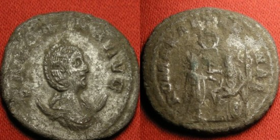 Ancient Coins - SALONINA AR billon antoninianus. ROMAE AETERNAE, uncertain Eastern mint
