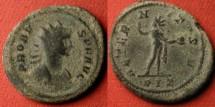 Ancient Coins - PROBUS AE antoninianus. Rome, 280 AD. AETERNITAS AVG, Sol standing. Rome mint, found in Spain.