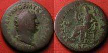 Ancient Coins - TITUS AUGUSTUS orichalcum dupondius. Securitas seated left.
