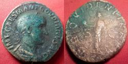 Ancient Coins - GORDIAN III AE sestertius. Providentia standing, holding globe & scepter.