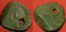 Ancient Coins - CARAUSIUS AE antoninianus. LEGIO VII CLAUDIA, Bull standing right. Londinium mint. RARE. Two bulls! Unusual restrike with two reverses.