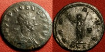 Ancient Coins - PROBUS AE silvered antoninianus. PAX standing, Siscia mint.