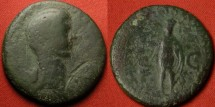 Ancient Coins - ANTONIA AE dupondius, mother of Claudius, daughter of Marcus Antonius. Scarce