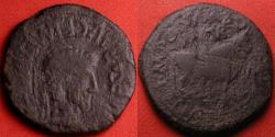 Ancient Coins - TIBERIUS AE as. Turiaso, Spain. Bull standing right. Struck under duoviri Marsus & Vegetus