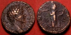 Ancient Coins - MARCUS AURELIUS CAESAR AE as. Concordia standing left