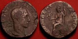 Ancient Coins - SEVERUS ALEXANDER AE sestertius. ROMAE AETERNAE, Roma seated left, holding Victory