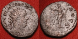 Ancient Coins - VALERIAN I AR silver antoninianus. VICTORIA AVGG, Victory standing, holding wreath & palm.