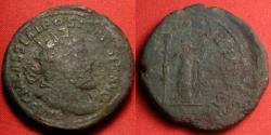 Ancient Coins - POSTUMUS AE orichalcum 'double' sestertius. Fides standing, holding standards. 33mm.