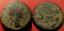 Ancient Coins - MARCUS AURELIUS CAESAR AE 25mm. Antioch. SC in wreath. Scarce.
