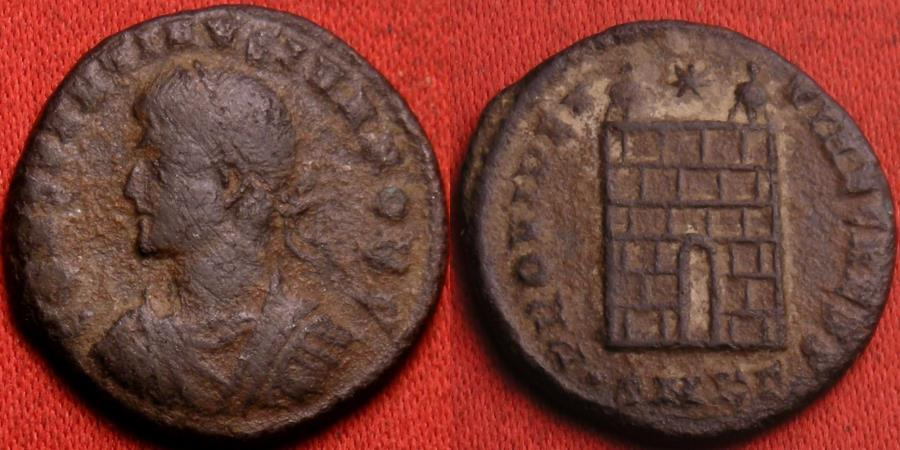Ancient Coins - CONSTANTINE II CAESAR AE3 campgate. Cyzicus mint.