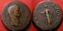 Ancient Coins - CLAUDIUS AE sestertius. Rome mint. SPES AVGVSTA, Spes advancing, holding flower. Big & heavy