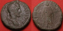 Ancient Coins - MACRINUS AE 26mm. Nikopolis ad Istrum. Asclepius standing, holding serpent-entwined staff.