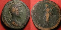 Ancient Coins - MARCUS AURELIUS AE sestertius. Felicitas-Providentia standing, holding caduceus & cornucopia, foot on globe. Cuirassed bust