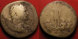 Ancient Coins - TRAJAN AE orichalcum sestertius. ARMENIA ET MESOPOTAMIA IN POTESTATEM P R REDACTAE, Trajan standing overtop of Armenia, Euphrates, & Tigris