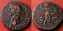 Ancient Coins - CLAUDIUS AE as. Minerva advancing right, holding spear & shield.