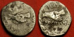 Ancient Coins - CIVIL WAR OF 68-69 AD AR silver denarius. Pro-Vitellian Forces in Southern Gaul, March, 69 AD. FIDES EXERCITVVM, FIDES PRAETORIANORVM, two sets of clasped hands. Vitellius' 'bribe money' for Otho's Praetorian Guard.