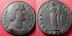 Ancient Coins - GALERIA VALERIA AE follis. Antioch mint. VENERI VICTRICI, Venus standing, holding apple.