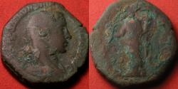 Ancient Coins - SEVERUS ALEXANDER AE sestertius. PROVIDENTIA AVG, Providentia standing, holding ears over modius & long anchor. Interesting 8 sided flan