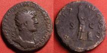 Ancient Coins - HADRIAN AE orichalcum dupondius. 119-121 AD. PIETAS AVGVSTI