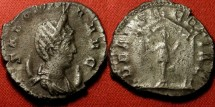 Ancient Coins - SALONINA billon antoninianus. DEAE SEGETIAE, goddess in four columned temple. 4.4g!