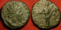 Ancient Coins - VICTORINUS AE antoninianus. SALUS standing, feeding serpent.
