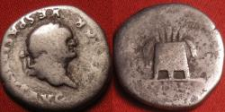 Ancient Coins - VESPASIAN AR silver denarius. Large modius with corn ears and poppies