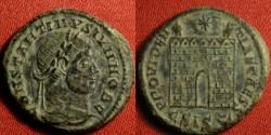 Ancient Coins - CONSTANTINE II CAESAR AE campgate. Siscia mint, R4. Sharp