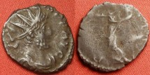 Ancient Coins - VICTORINUS AE antoninianus.Pax standing, holding branch and long scepter, no V in field