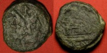 Ancient Coins - ROMAN REPUBLIC AE as. Laureate Janus, prow of ship facing right. 32mm, 30.0g.