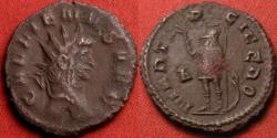 Ancient Coins - GALLIENUS AE antoninianus. MARTI PACIFERO, Mars standing, holding branch.