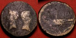 Ancient Coins - AUGUSTUS & AGRIPPA AE Dupondius, Nemausus mint. Crocodile, chained to palm branch. Heavy 14.6g.