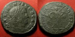 Ancient Coins - MAXIMINUS II, as Caesar, AE large follis. Aquileia mint. Mars advancing. Scarce