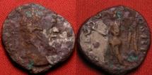 Ancient Coins - SEPTIMIUS SEVERUS fouree denarius. Victory advancing, ARAB ADIAB COS II