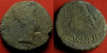 Ancient Coins - AUGUSTUS AE 22mm. AMPHIPOLIS, Macedon. Europa riding Bull. Scarce,