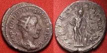 Ancient Coins - GORDIAN III AR silver antoninianus. VIRTVTI AVGVSTI, Hercules standing, leaning on club set on rock.