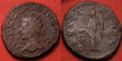 Ancient Coins - CLAUDIUS II GOTHICUS AE silvered antoninianus. ANTIOCH mint, LEFT facing bust. Aequitas standing. Rare