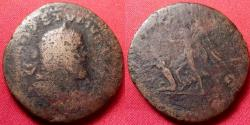 Ancient Coins - POSTUMUS AE laureate sestertius. Victory advancing, captive at her feet.
