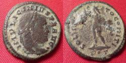 Ancient Coins - LICINIUS I AE3. Rome mint. SOLI INVICTO COMITI, Sol standing.