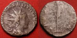 Ancient Coins - SALONINUS AS AUGUSTUS AR silver antoninianus. Spes advancing left. Excessively rare issue as Augustus
