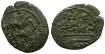 Ancient Coins - 134 BC - Roman Republic C. Aburius Geminus Æ Quadrans