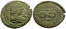 Ancient Coins - Otacilia Severa, Phrygia Hierapolis Æ27 / Two Wreaths