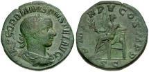 Ancient Coins - Gordian III Æ Sestertius / Apollo