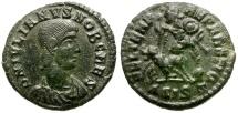 Ancient Coins - Julian II as Caesar Æ3 / Fallen Horseman