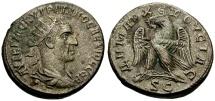 Ancient Coins - Trajan Decius, Syria, Seleucia and Pieria, Antioch Billon Tetradrachm / Eagle