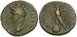 Ancient Coins - Divus Augustus. Struck under Titus (AD 79-81) Æ Dupondius / Eagle on Globe