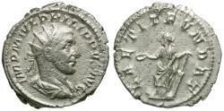 Ancient Coins - Philip I (AD 244-249) AR Antoninianus / Laetitia