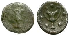 Ancient Coins - Calabria. Taras AR Obol / Kantharos