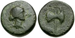 Ancient Coins - Lydia. Thyateira Æ15 / Double Axe